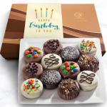 Birthday Deluxe Chocolate Dipped Oreos Gift Box - 12 pc
