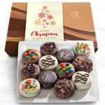 Merry Christmas Deluxe Chocolate Dipped Oreos Gift Box - 12 pc