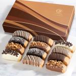 Classic Decorated Chocolate-Dipped Biscotti in Gift Box