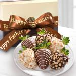 Father's Day Nuts About Chocolate Covered Strawberries - 6 Berries
