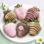 Joy of Spring Chocolate Covered Strawberries - 6 Berries