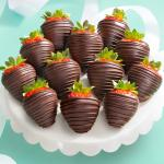 Tall, Dark & Dreamy Dipped Strawberries - 12 Berries