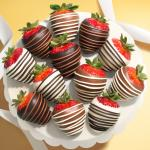 Chocolate Trio Dipped Strawberries - 12 Berries