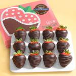 Made with Ghirardelli Dark Chocolate Covered Strawberries - 12 Berries