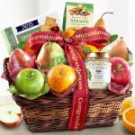 Congratulations Cheese and Nuts Classic Fruit Basket