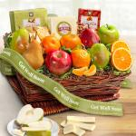 Get Well Soon Cheese and Nuts Classic Fruit Basket