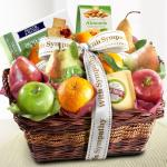 Sympathy Cheese and Nuts Classic Fruit Basket