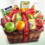 Merry Christmas Fruit and Gourmet Basket