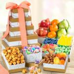 Spring Fresh Fruit and Gourmet Treats Gift Tower
