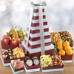 Layers of Greatness Fruit & Snacks Tower
