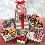 Festive Sharing Holiday Gourmet Treats Tower