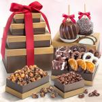 Chocolate Perfection Gift Tower with Caramel Apples