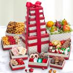 Holiday Fruit and Feast Gift Tower