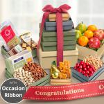 Congratulations Market Deluxe Fruit & Charcuterie Tower