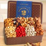 Gourmet Roasted 2 LB Nuts Assortment Gift Tin