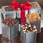 Sweet and Crunchy Grand Snacking Tin Trio Set