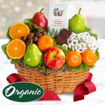 Organic Fruit and Gourmet Holiday Gift Basket
