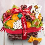 Organic Fruit & Sweets Valentine's Day Gift Basket