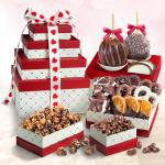 Chocolate Perfection Valentine Gift Tower with Caramel Apples