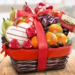 Valentine Treasures Fruit Basket Gift