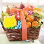 Sweet Spring Fruit and Treats Basket