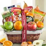 Thank You Classic Deluxe Fruit Basket