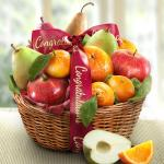 Congratulations Fruit Favorites Basket