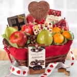 Valentine's Day Chocolate and Fruit Basket