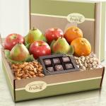 Gracious Giver Deluxe Fruit and Gourmet Gift Box