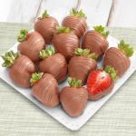 Pure Milk Chocolate Covered Strawberries - 12 Berries