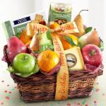 Birthday Fruit Basket with Cheese and Nuts