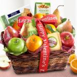 Happy Valentines Day Fruit and Gourmet Basket