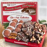 Premium Handmade Chocolate Nuts Trio Collection in Gift Tin