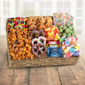 AA4087, Sweets to Eat Chocolate, Candies and Crunch Gift Basket
