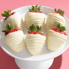 ACD1011, White Out Chocolate Dipped Strawberries - 6 Berries