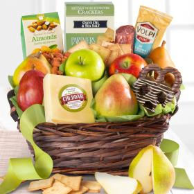 AA3015, Fresh Fruit, Cheese and Salami Gourmet Gift Basket