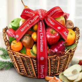 AA4000X, Merry Christmas California Bounty Fruit Gift Basket