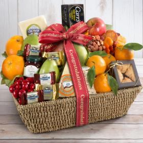 AA4016C, Congratulations California Farmstead Fruit Gift Basket