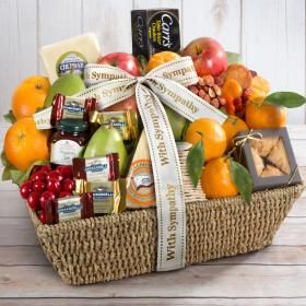 AA4016S, With Sympathy California Farmstead Fruit Gift Basket