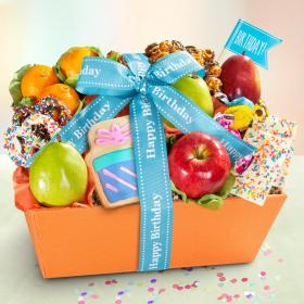 AA4050B, Happy Birthday Fruit & Sweets Gift Basket