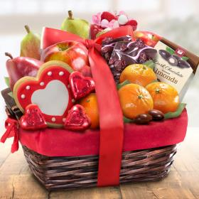AA4050V, Valentine Treasures Fruit Basket Gift