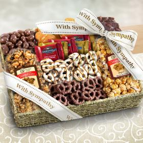 AA4056S, With Sympathy Chocolate, Caramel and Crunch Grand Gift Basket