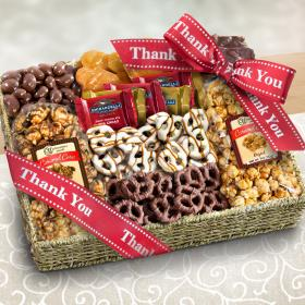 AA4056T, Thank You Chocolate, Caramel and Crunch Grand Gift Basket