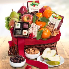 AA4078, Holiday Treasures Fruit Basket