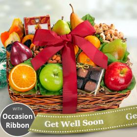 AA4094G, Get Well Soon Orchard Delight Fruit and Gourmet Basket