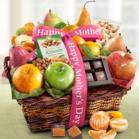 AA4094M, Happy Mothers Day Orchard Delight Fruit and Gourmet Basket