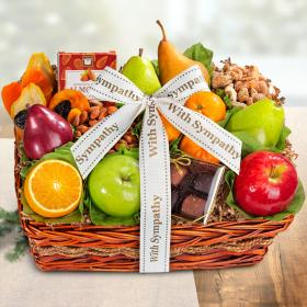 AA4094S, Sympathy Orchard Delight Fruit and Gourmet Basket