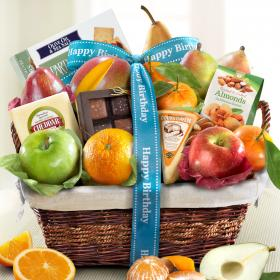 AA4101B, Happy Birthday Deluxe Fruit Basket
