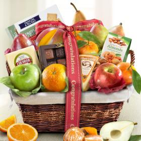 AA4101C,  Congratulations Deluxe Fruit Basket