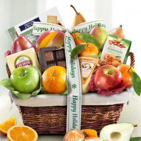 AA4101H, Happy Holidays Classic Deluxe Fruit Basket